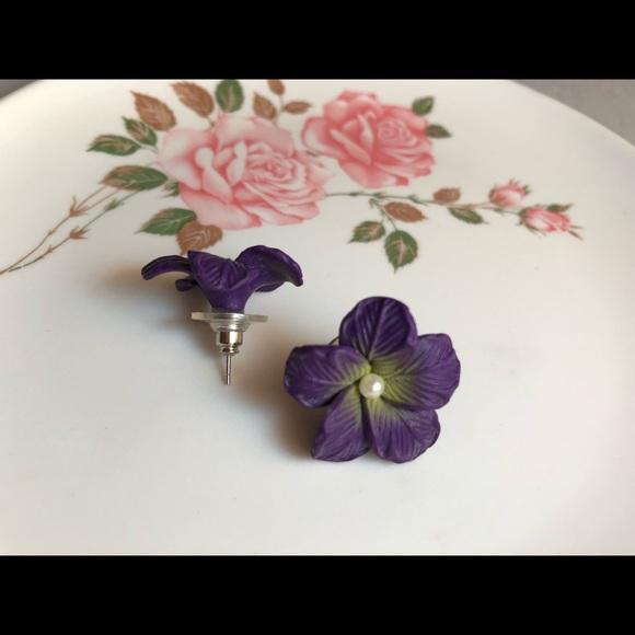 Jewelry lightweight silicone purple flower earrings poshmark lightweight silicone purple flower earrings mightylinksfo